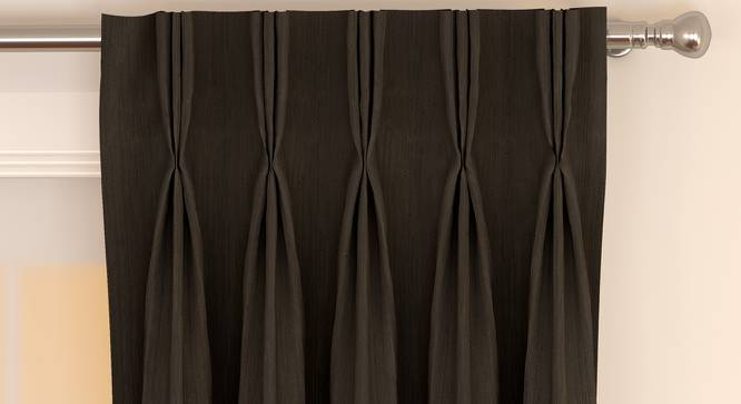 """Matka Window Curtains - Set Of 2 (Brown, 112 x 152 cm  (44"""" x 60"""") Curtain Size) by Urban Ladder - Front View Design 1 - 326584"""