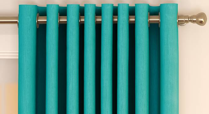 "Matka Door Curtains - Set Of 2 (Turquoise, 112 x 274 cm  (44"" x 108"") Curtain Size) by Urban Ladder - Front View Design 1 - 326599"