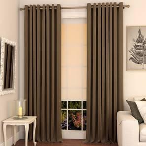 Matka window curtains set of 2 5 coffee eyelet lp