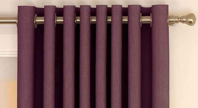 """Matka Window Curtains - Set Of 2 (Grape, 112 x 152 cm  (44"""" x 60"""") Curtain Size) by Urban Ladder - Front View Design 1 - 326666"""