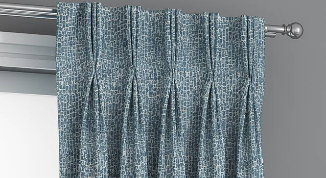 "Bark Door Curtains - Set Of 2 (Blue, 112 x 213 cm  (44"" x 84"") Curtain Size) by Urban Ladder - Front View Design 1 - 326684"