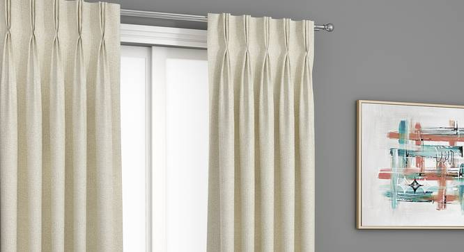 "Bark Door Curtains - Set Of 2 (Cream, 112 x 213 cm  (44"" x 84"") Curtain Size) by Urban Ladder - Design 1 Full View - 326699"