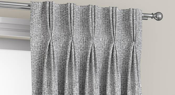 "Bark Door Curtains - Set Of 2 (Grey, 112 x 274 cm  (44"" x 108"") Curtain Size) by Urban Ladder - Front View Design 1 - 326745"