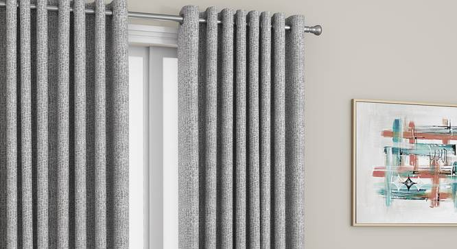 "Bark Door Curtains - Set Of 2 (Grey, 112 x 213 cm  (44"" x 84"") Curtain Size) by Urban Ladder - Design 1 Full View - 326907"