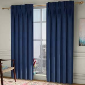 "Diablo Door Curtains - Set Of 2 (Blue, 112 x 274 cm  (44"" x 108"") Curtain Size) by Urban Ladder - Design 1 - 326983"