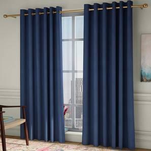 "Diablo Door Curtains - Set Of 2 (Blue, 112 x 274 cm  (44"" x 108"") Curtain Size) by Urban Ladder - Design 1 - 326986"