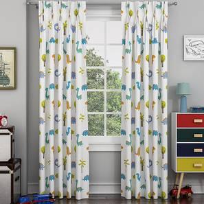 "Dino Window Curtains - Set Of 2 (112 x 152 cm  (44"" x 60"") Curtain Size) by Urban Ladder - Design 1 - 327013"