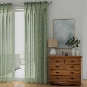 "Elegance Sheer Door Curtains - Set Of 2 (112 x 213 cm  (44"" x 84"") Curtain Size, Duckegg Blue) by Urban Ladder - Design 1 - 327019"