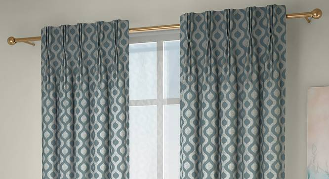 "Elite Door Curtains - Set Of 2 (112 x 274 cm  (44"" x 108"") Curtain Size, Bottle Green) by Urban Ladder - Front View Design 1 - 327047"