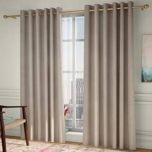 "Frizzle Door Curtains - Set Of 2 (Beige, 112 x 274 cm  (44"" x 108"") Curtain Size) by Urban Ladder - Design 1 - 327103"