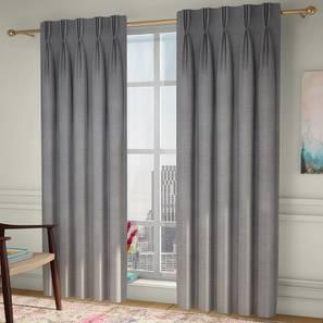 "Frizzle Window Curtains - Set Of 2 (Grey, 112 x 152 cm  (44"" x 60"") Curtain Size) by Urban Ladder - Design 1 - 327124"
