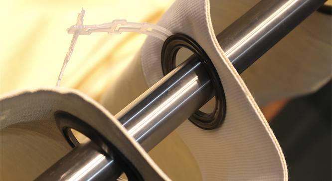 "Vegas Sheer Door Curtains - Set Of 2 (Beige, 112 x 213 cm  (44"" x 84"") Curtain Size) by Urban Ladder - Cross View Design 1 - 327167"