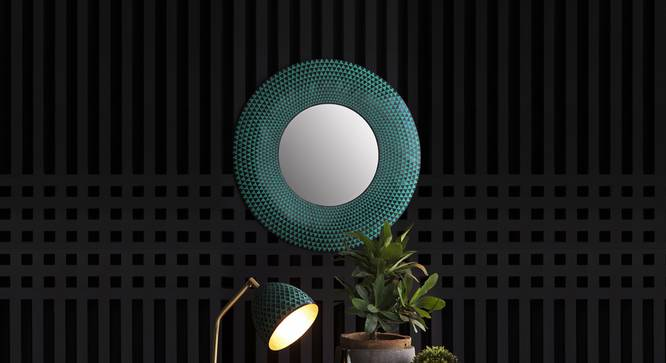 Plato Mirror (Iron with black and green patina and gold finish) by Urban Ladder - Design 1 Details - 327300