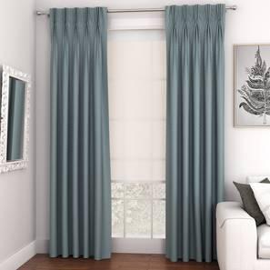"Gardenia Door Curtains - Set Of 2 (Blue, 71 x 213 cm (28""x84"")  Curtain Size, American Pleat) by Urban Ladder - Design 1 - 327321"