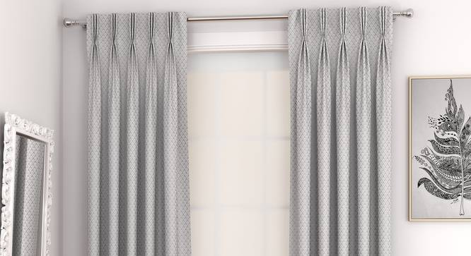 """Gardenia Door Curtains - Set Of 2 (Grey, 71 x 213 cm (28""""x84"""")  Curtain Size, American Pleat) by Urban Ladder - Front View Design 1 - 327349"""