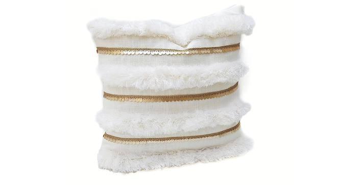"Lonna Cushion Cover (White, 41 x 41 cm  (16"" X 16"") Cushion Size) by Urban Ladder - Front View Design 1 - 327509"