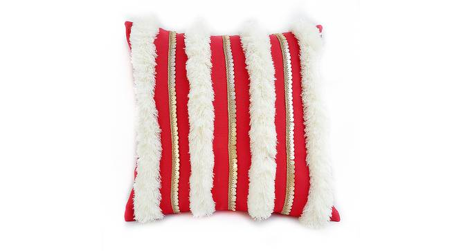 "Ana Cushion Cover (Red, 30 x 30 cm  (12"" X 12"") Cushion Size) by Urban Ladder - Front View Design 1 - 327541"