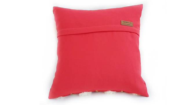 "Ana Cushion Cover (Red, 30 x 30 cm  (12"" X 12"") Cushion Size) by Urban Ladder - Rear View Design 1 - 327542"
