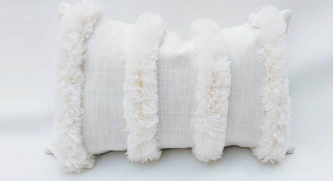 "Erinn Cushion Cover (30 x 30 cm  (12"" X 12"") Cushion Size, Off White) by Urban Ladder - Front View Design 1 - 327554"