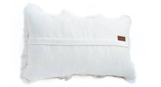 """Erinn Cushion Cover (30 x 30 cm  (12"""" X 12"""") Cushion Size, Off White) by Urban Ladder - Rear View Design 1 - 327558"""
