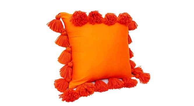 """Lesley Cushion Cover (Orange, 41 x 41 cm  (16"""" X 16"""") Cushion Size) by Urban Ladder - Front View Design 1 - 327579"""
