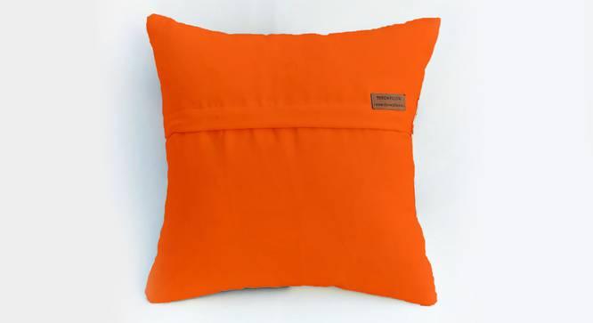"Lesley Cushion Cover (Orange, 41 x 41 cm  (16"" X 16"") Cushion Size) by Urban Ladder - Rear View Design 1 - 327581"