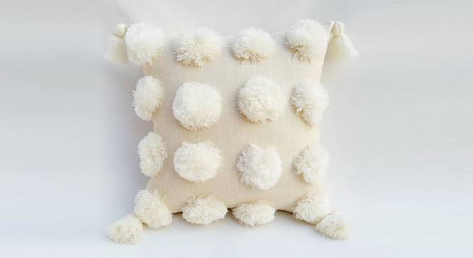 """Paka Cushion Cover (30 x 30 cm  (12"""" X 12"""") Cushion Size, Off White) by Urban Ladder - Front View Design 1 - 327585"""