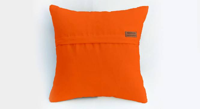 "Lesley Cushion Cover (Orange, 51 x 51 cm  (20"" X 20"") Cushion Size) by Urban Ladder - Rear View Design 1 - 327594"