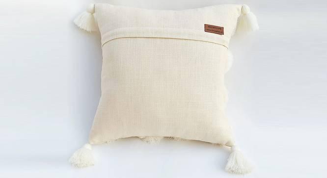 "Paka Cushion Cover (30 x 30 cm  (12"" X 12"") Cushion Size, Off White) by Urban Ladder - Rear View Design 1 - 327598"