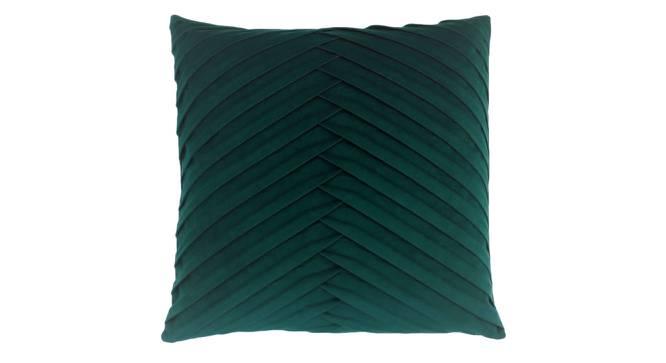 """Dena Cushion Cover (Green, 30 x 30 cm  (12"""" X 12"""") Cushion Size) by Urban Ladder - Rear View Design 1 - 327643"""
