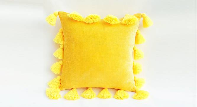 """Byrd Cushion Cover (Yellow, 30 x 30 cm  (12"""" X 12"""") Cushion Size) by Urban Ladder - Front View Design 1 - 327693"""