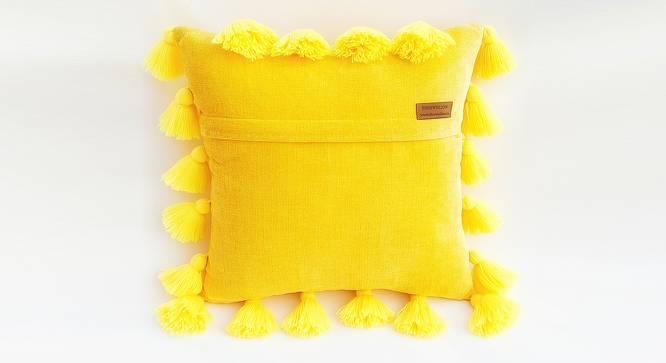 "Byrd Cushion Cover (Yellow, 30 x 30 cm  (12"" X 12"") Cushion Size) by Urban Ladder - Rear View Design 1 - 327697"