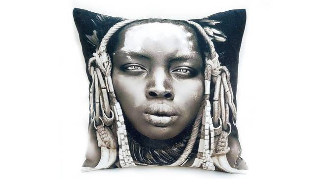 "Noble Cushion Cover (46 x 46 cm  (18"" X 18"") Cushion Size) by Urban Ladder - Front View Design 1 - 327788"