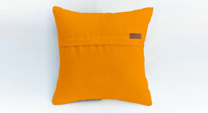 "Eva Cushion Cover (Mustard, 41 x 41 cm  (16"" X 16"") Cushion Size) by Urban Ladder - Rear View Design 1 - 327818"