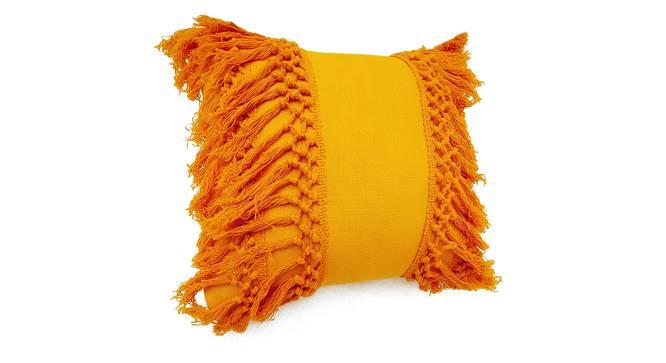 "Eva Cushion Cover (Mustard, 46 x 46 cm  (18"" X 18"") Cushion Size) by Urban Ladder - Front View Design 1 - 327821"