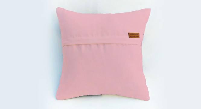 "Seth Cushion Cover (Pink, 61 x 61 cm  (24"" X 24"") Cushion Size) by Urban Ladder - Rear View Design 1 - 327850"