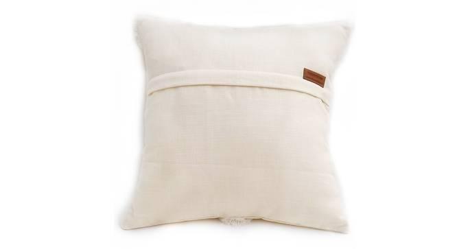 """Simone Cushion Cover (White, 30 x 30 cm  (12"""" X 12"""") Cushion Size) by Urban Ladder - Rear View Design 1 - 327862"""