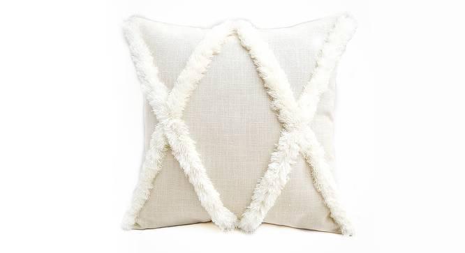 "Simone Cushion Cover (White, 30 x 30 cm  (12"" X 12"") Cushion Size) by Urban Ladder - Front View Design 1 - 327876"