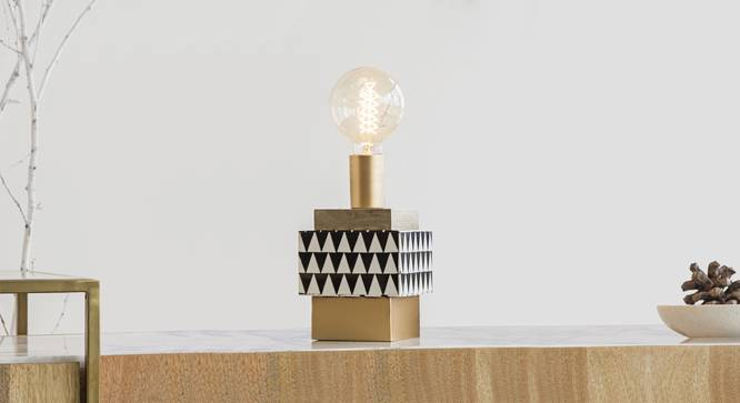 LOKO TABLE LAMP WITH FILAMINT (Black Finish) by Urban Ladder - Design 1 Details - 327894