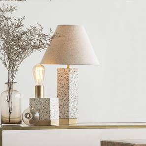 Speckle table lamp with conical shade lp