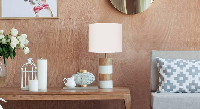 Athena  Table Lamp White (Black Finish) by Urban Ladder - Design 1 Details - 327985