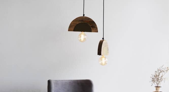 APOLLO HANGING LAMP (Black Finish) by Urban Ladder - Design 1 Top View - 328048