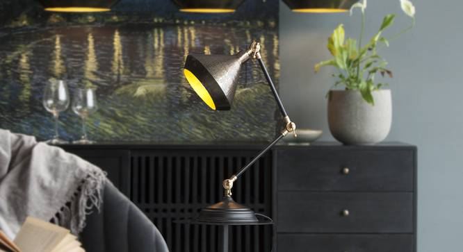 CHRYSLER  Study Table Lamp (Black Finish) by Urban Ladder - Design 1 Top View - 328096