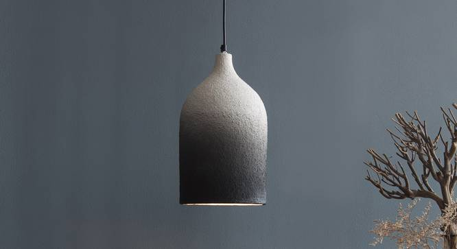 DHOLA cylindrical  hanging lamp (Black Finish) by Urban Ladder - Design 1 Top View - 328171
