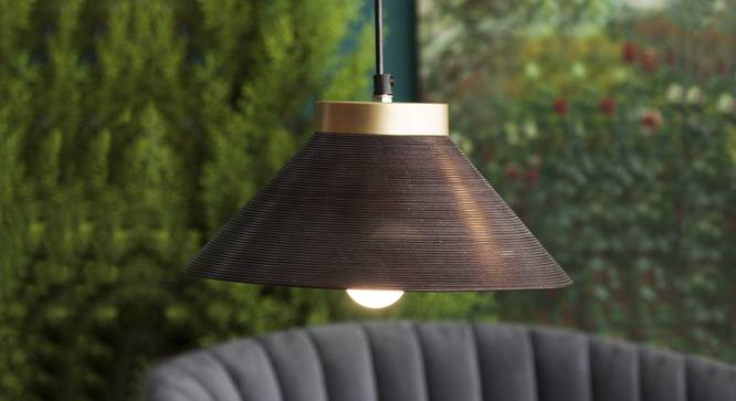Empire Conical Hanging Lamp (Black Finish) by Urban Ladder - Design 1 Top View - 328209