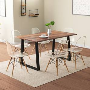 Aquila dsw 6 seater dining table set clear lp