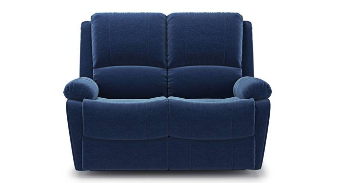Lebowski Recliner (Two Seater, Cobalt Fabric) by Urban Ladder - Front View - 328305