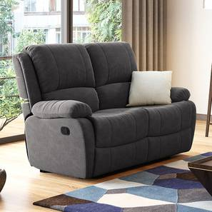 Lebowski Recliner (Two Seater, Smoke Fabric) by Urban Ladder - Full View Design 1 - 333762