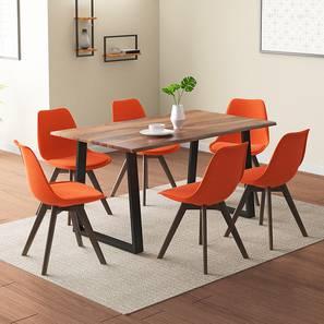 Aquila pashe 6 setaer dining table set rust lp