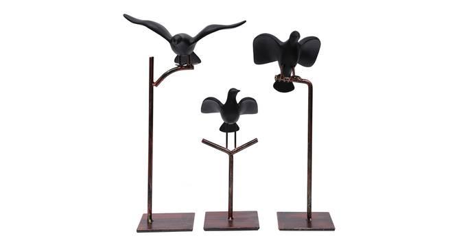 Vanani Figurine - Set Of 3 (Black) by Urban Ladder - Front View Design 1 - 328543